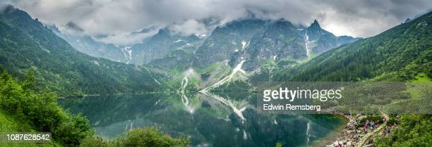 morskie oko - zakopane stock pictures, royalty-free photos & images