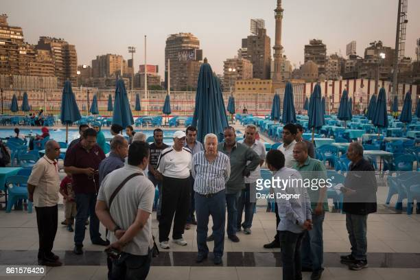 Mortada Mansour walks through the Zamalek Club inspecting the work of its employees on May 16 2017 in Cairo Egypt The Zamalek club is probably best...