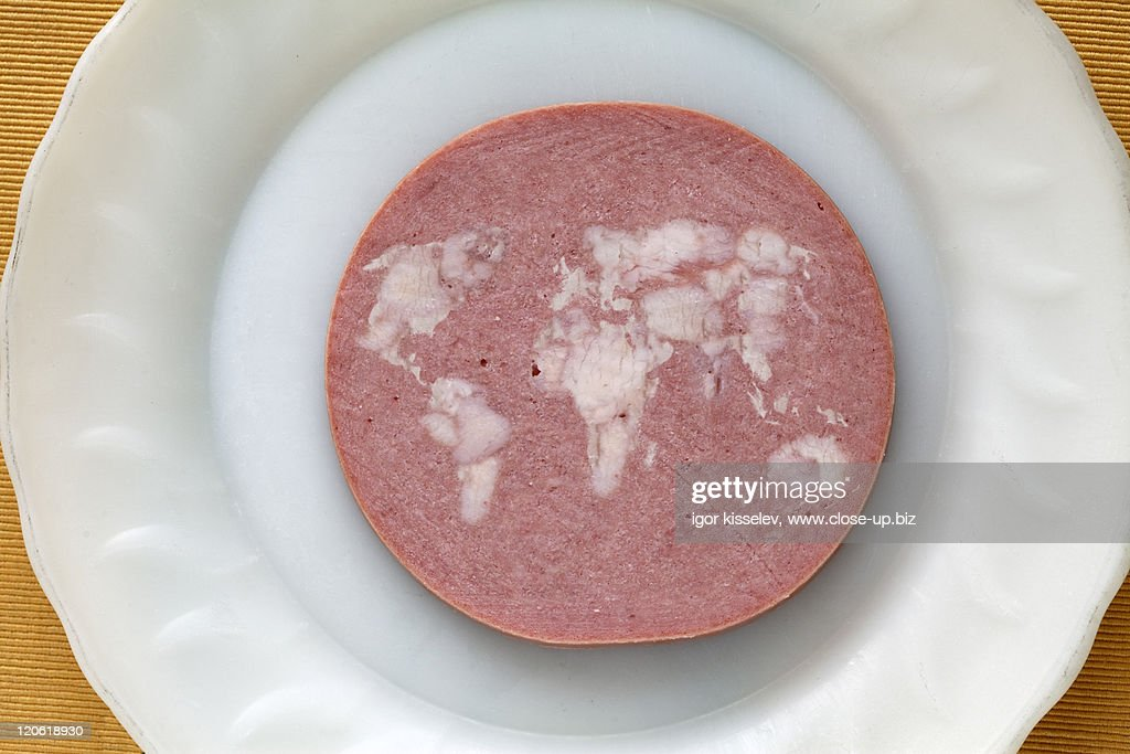Mortadella, close-up : Stock Photo