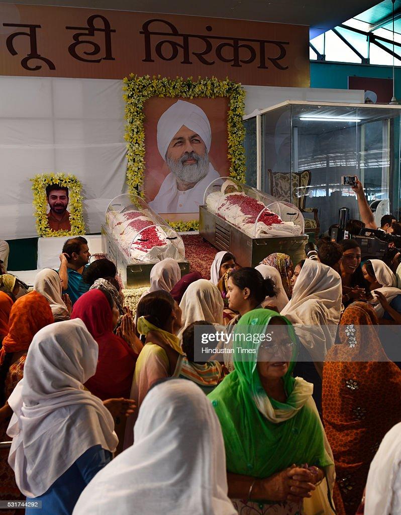 Mortal remains of Baba Hardev Singh, spiritual leader of the