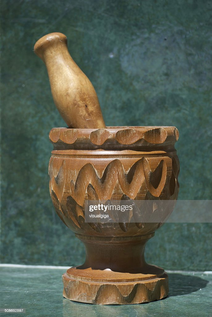 Mortar with pestle : Stock Photo
