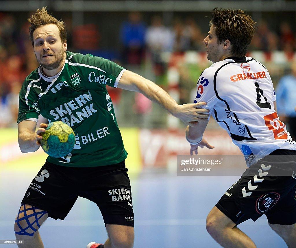 Final Consumers: Morten Balling Of Skjern Handball In Action During The