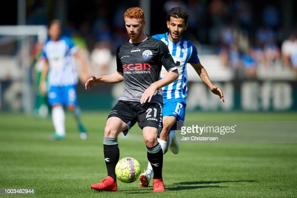 Morten Brander Knudsen of Vendsyssel FF in action during the Danish Superliga match between Esbjerg fB and Vendsyssel FF at Blue Water Arena on July...