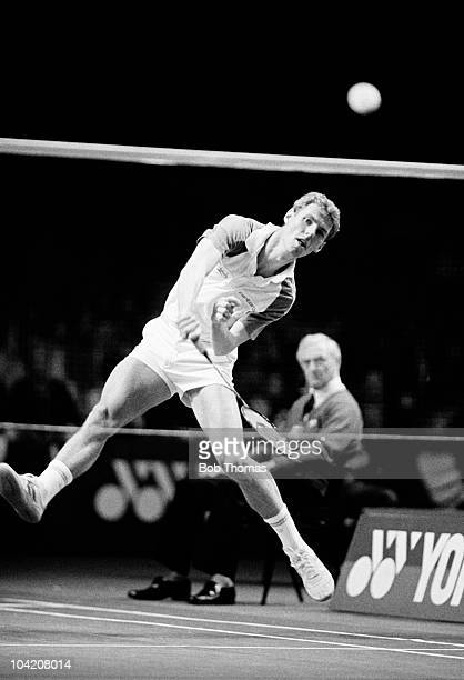 Morten Frost of Denmark in action during the Yonex AllEngland Badminton Championships held at Wembley London on 20th March 1988