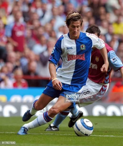 Morten Gamst Pedersen of Blackburn Rovers in action during the FA Barclays Premiership match between Aston Villa and Blackburn Rovers at Villa Park...
