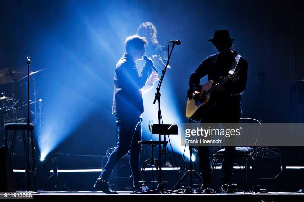 Morten Harket and Pal WaaktaarSavoy of the Norwegian band AHA perform live on stage during a concert at the MercedesBenz Arena on January 29 2018 in...