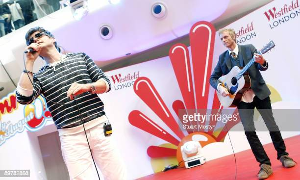 Morten Harket and Paul WaaktaarSavoy Norwegian pop band AHa perform a free acoustic show for fans at Westfield on July 28 2009 in London England