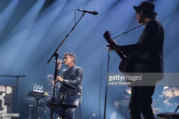 Morten Harket and Paul WaaktaarSavoy of Aha perform at The O2 Arena on February 14 2018 in London England