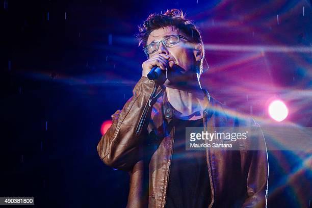 Morten Harket from AHA performs at 2015 Rock in Rio on September 27 2015 in Rio de Janeiro Brazil