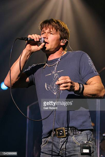 Morten Harket of A HA during Liverpool Summer Pop A Ha Concert July 16 2006 in Liverpool Great Britain