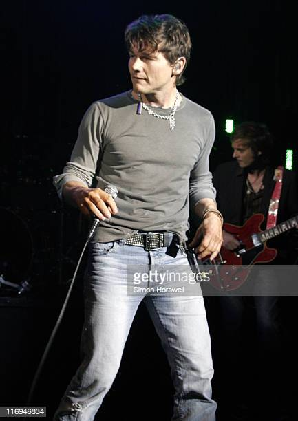 Morten Harket of AHa during AHa in Concert at Shepherds Bush Empire in London February 2 2006 at Shepherds Bush Empire in London Great Britain