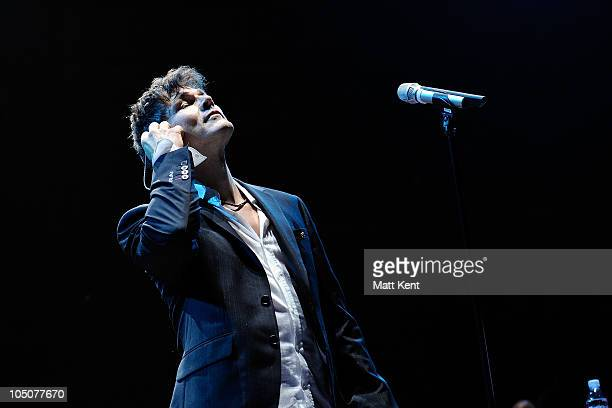 Morten Harket of aha performs at Royal Albert Hall on October 8 2010 in London England