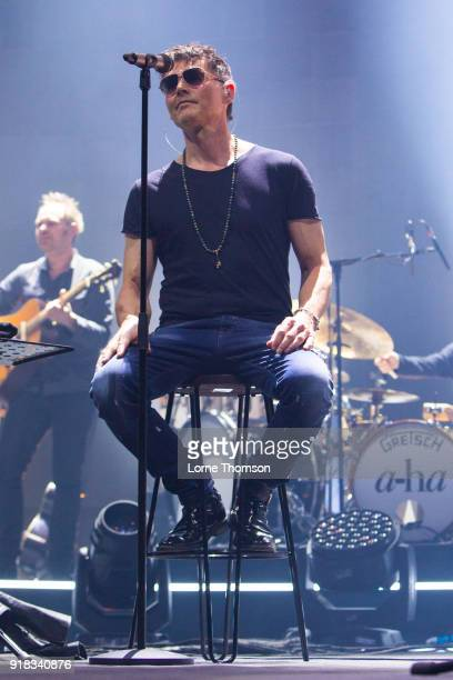 Morten Harket of Aha performs at The O2 Arena on February 14 2018 in London England
