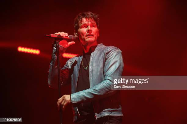 Morten Harket of a-ha performs at Villa Maria on March 07, 2020 in Auckland, New Zealand.