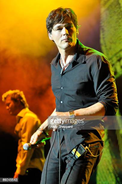 Morten Harket of aha performs on stage as part of iTunes Live 2009 at The Roundhouse on July 24 2009 in London England