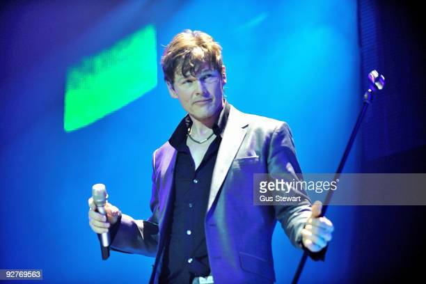 Morten Harket of aha performs on stage at O2 Arena on November 4 2009 in London England