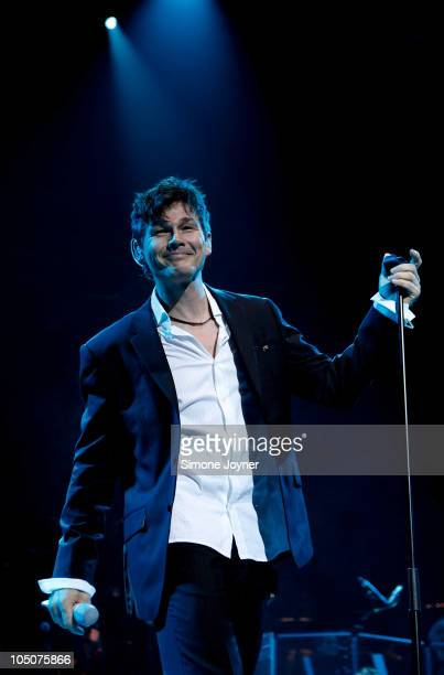 Morten Harket of AHA performs live on stage as part of their Farewell Tour at Royal Albert Hall on October 8 2010 in London England Aha tonight...