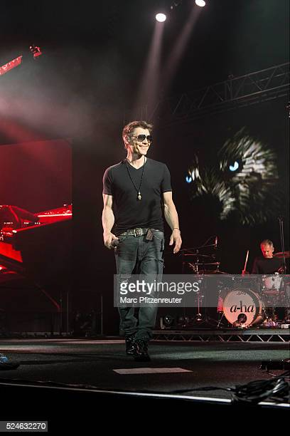 Morten Harket of Norwegian band aha performs onstage during their 'Cast In Steel Tour' at the Lanxess Arena on April 26 2016 in Cologne Germany
