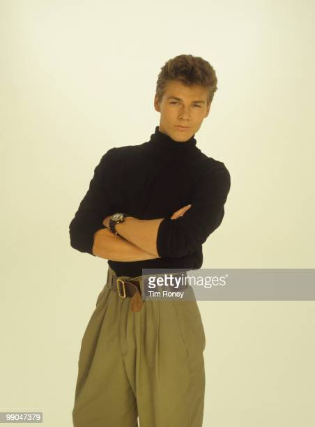 Morten Harket singer with pop group aha circa 1984