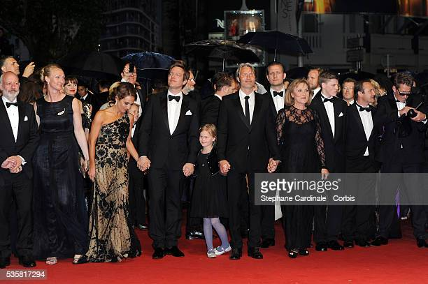 Morten Kaufman Sisse Graum Jorgensen Alexandra Rapaport Thomas Vinterberg Viola Jacobsen Mikkelsen Mads Mikkelsen and Susse Wold at the premiere for...