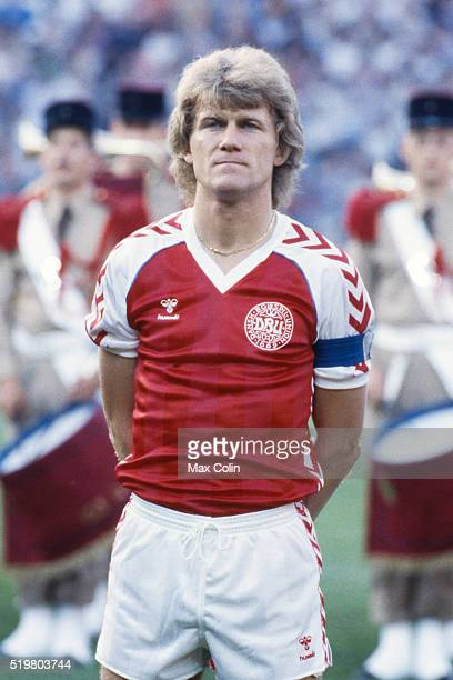 Morten Olsen during the Football European Championship between Denmark and Belgium at Stade La Meinau Strasbourg France on 19 June 1984