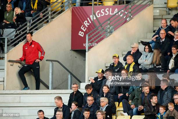 Morten Wieghorst head coach of AaB Aalborg on the stand after the red card during the Danish Alka Superliga match between AC Horsens and AaB Aalborg...