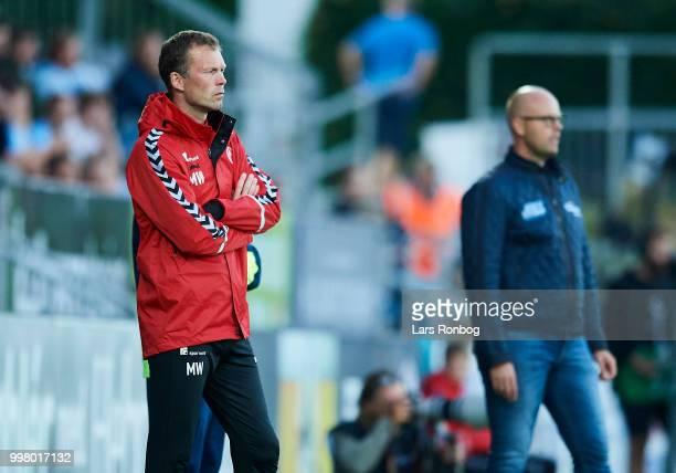 Morten Wieghorst of AaB Aalborg looks on during the Danish Superliga match between Sonderjyske and AaB Aalborg at Sydbank Park on July 13 2018 in...