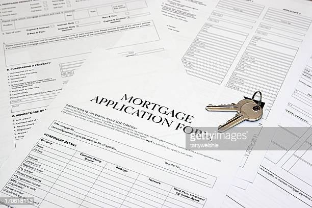 mortgage application form - mortgage document stock pictures, royalty-free photos & images