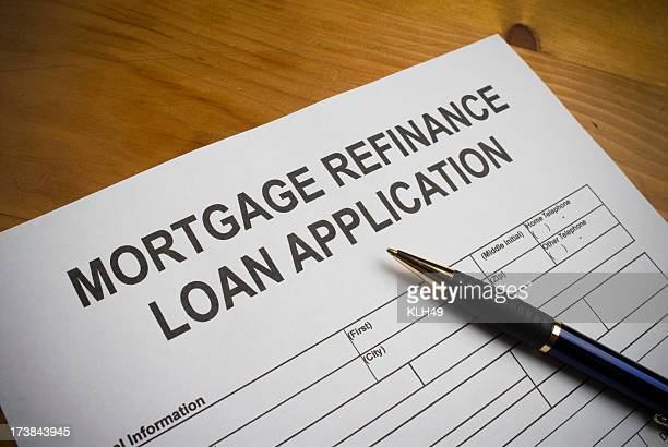 Mortgage refinance loan application.