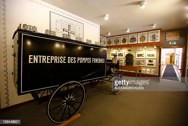 A mortician's hearse is seen at the Funeral museum of Vienna on October 4 2012 Fascinated by contraception chimneysweeps or magic boxes Vienna has a...