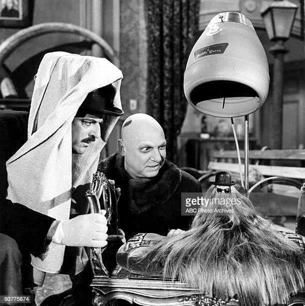 FAMILY Morticia's Romance Season One 7/15/65 John Astin as Gomez Jackie Coogan as Uncle Fester and Felix Silla as Cousin Itt