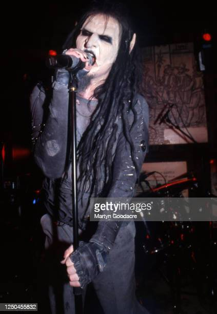 Mortiis aka Havard Ellefsen or Norwegian metal band Mortiis performs in London UK 2002