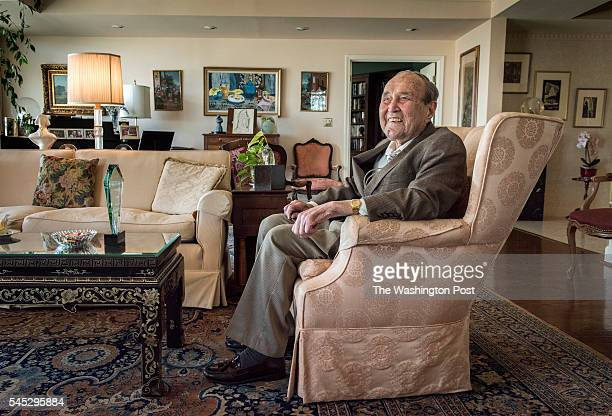 Mortimer Caplin who was the IRS Commissioner under JFK and LBJ in his apartment on June 2016 in Chevy Chase MD