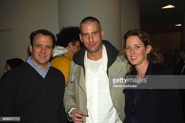 Mortimer Sackler Kerry Youmans and Jacqueline Sackler attend Douglas Gordon and Philippe Parreno's Zidane A 21st Century Portrait at Solomon R...