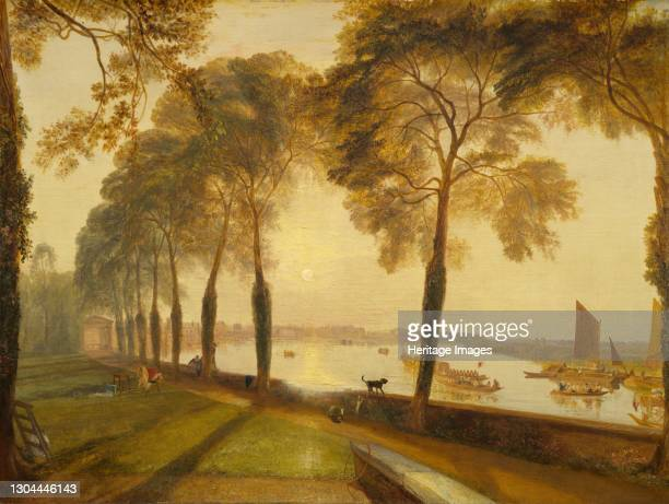 Mortlake Terrace, 1827. Artist JMW Turner.