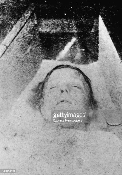 Mortuary photograph of Mary Ann Nichols, thought to be the first victim of serial killer Jack the Ripper. She was found at Buck's Row, in London's...