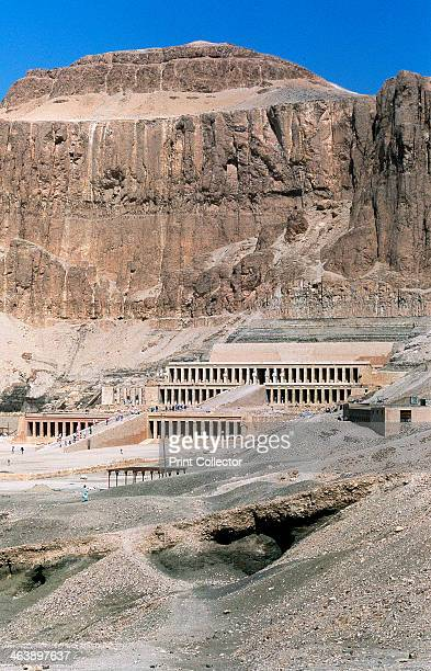 Mortuary temple of Queen Hatshepsut Dayr alBahri Egypt c1457 BC Hatshepsut was the daughter of Thutmose I and wife of Thutmose II The 5th Pharaoh of...