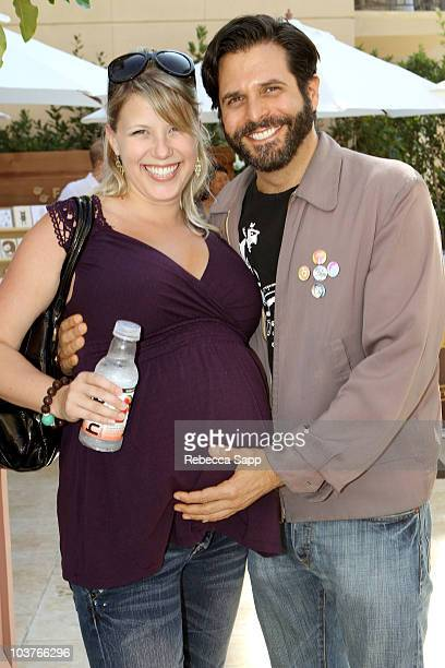 DJ Morty Coyle and actress Jodie Sweetin attend the Kari Feinstein Primetime Emmy Awards Style Lounge Day 2 held at Montage Beverly Hills hotel on...