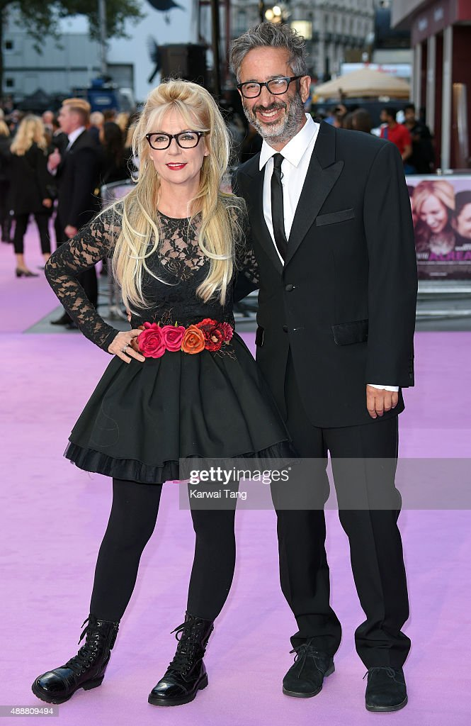Morwenna Banks and David Baddiel attend the European Premiere of 'Miss You Already' at Vue West End on September 17, 2015 in London, England.