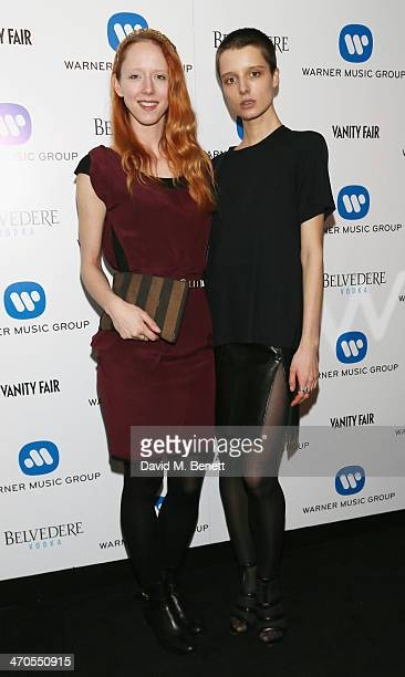 Morwenna Lytton Cobbold and guest attend The Warner Music Group And Belvedere Brit Awards After Party In Association With Vanity Fair at The Savoy...