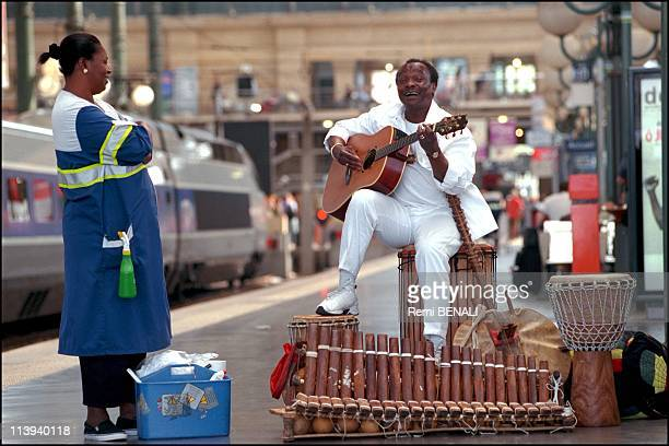 Mory Kante African singer In Paris France On May 28 2001