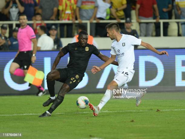 Moryke Fofana of Yeni Malatyaspor and Mario Jurcevic of Olimpija Ljubljana vie for the ball during the UEFA Europa League second qualifying match...