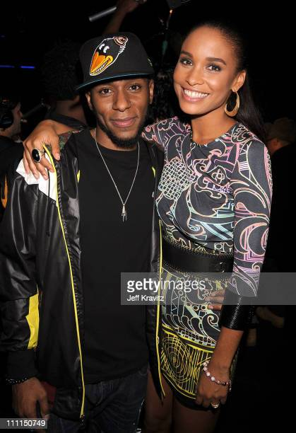 Mos Def and Joy Bryant attends the 2008 VH1 Hip Hop Honors awards show at Hammerstein Ballroom on October 2 2008 in New York City