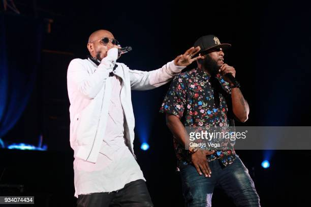 Mos Def and Talib Kweli perform as part of the benefit concert 'Power To The People' at Coliseo Jose M Agrelot on March 18 2018 in San Juan Puerto...