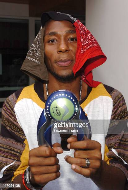 Mos Def at Bop It Blast during 2005 MTV VMA Alliance Suite Day 2 at Sanctuary South Beach in Miami Florida United States