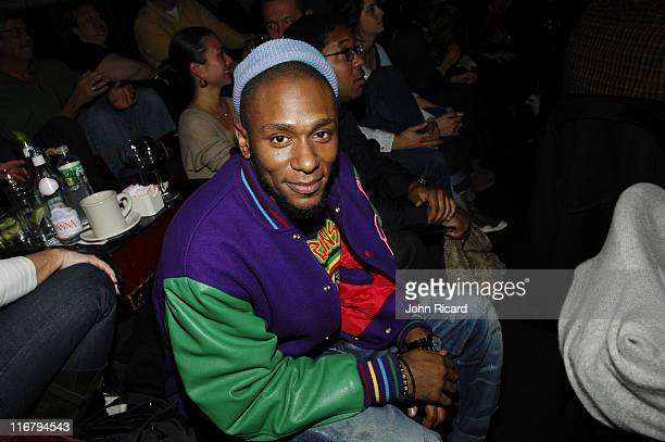 Mos Def during Amy Winehouse performs at Joe's Pub January 16 2007 at Joe's Pub in New York New York United States