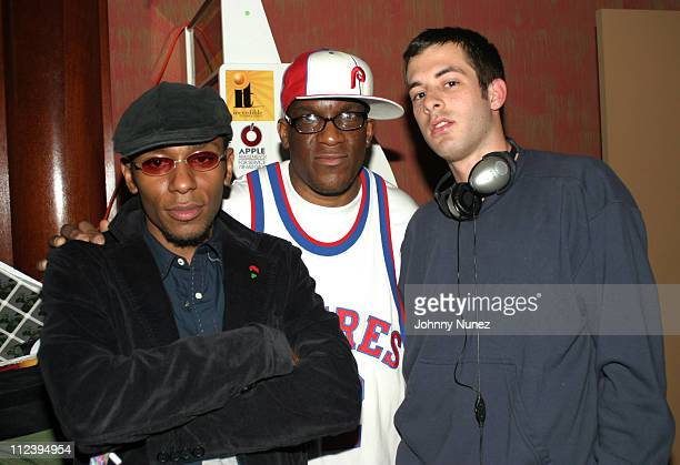 Mos Def Goldfinger and Mark Ronson during Mos Def Hosts Rawkus Records Party for Howie McDuffy at 99 Hudson in New York City New York United States