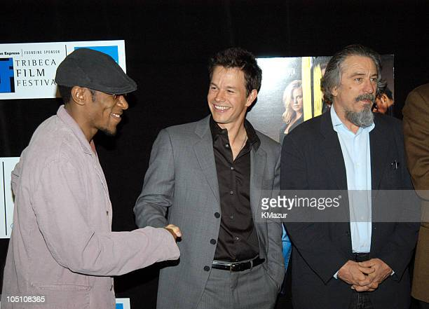 """Mos Def, Mark Wahlberg and Robert De Niro during 2003 Tribeca Film Festival - """"The Italian Job"""" Premiere at Tribeca Performing Arts Center in New..."""