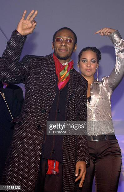 Mos Def performs with Alicia Keys during Alicia Keys Album Release Party at Industria in New York City 2003 at Industria in New York New York United...