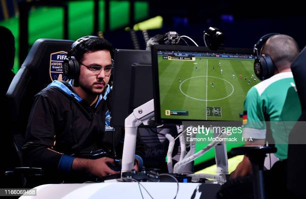 Mosaad Aldossary of Saudi Arabia in action in the FIFA eWorld Cup Final against Mo Harkous of Germany during Finals day of the FIFA eWorld Cup 2019...